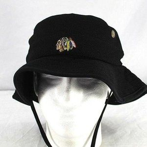 NHL Chicago Blackhawks Black  Bucket   Hat Adult